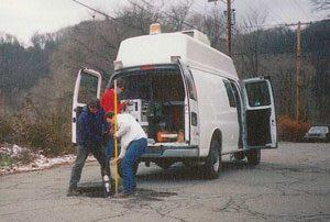 Televising Van in Action